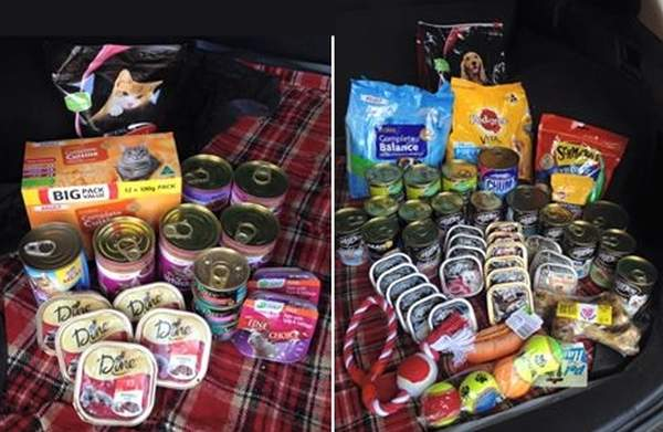 Scouts Food donation 2014